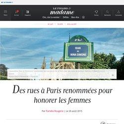Des rues à Paris renommées pour honorer les femmes