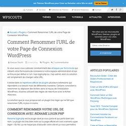 Comment Renommer l'URL de votre Page de Connexion WordPress