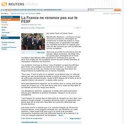 La France ne renonce pas sur le FESF