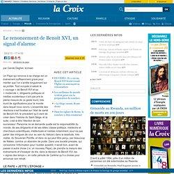 Le renoncement de BenoîtXVI, un signal d'alarme