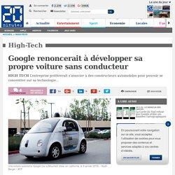 Google renoncerait à développer sa propre voiture sans conducteur