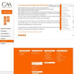 Le renouveau de l'ingénierie de formation - CAA