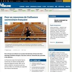 Pour un renouveau de l'influence universitaire française