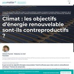 Climat : les objectifs d'énergie renouvelable sont-ils contreproductifs ?