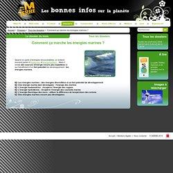 Energies marines : énergies renouvelables, production d'électricité, climatisation