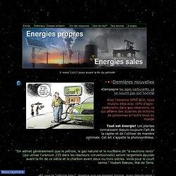Energies renouvelables : éolien, solaire, pile à combustible, géothermie profonde...