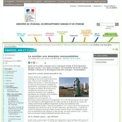 Le soutien aux énergies renouvelables