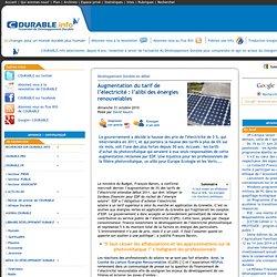 Augmentation du tarif de l'électricité : l'alibi des énergies renouvelables