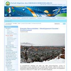 Énergies Renouvelables - Développement Durable - Environnement