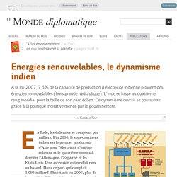 Energies renouvelables, le dynamisme indien, par Carole Rap (Le Monde diplomatique, 2007)