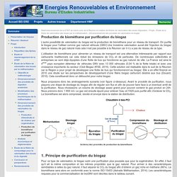 Production de biométhane par purification du biogaz