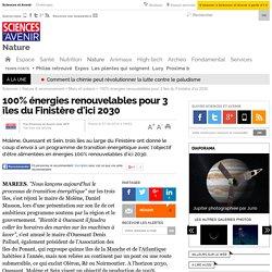 100% énergies renouvelables pour 3 îles du Finistère d'ici 2030