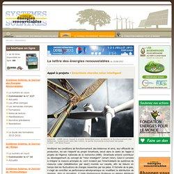 Journal des Énergies Renouvelables - APPEL À PROJETS SMARTÉOLE CHERCHE ROTOR INTELLIGENT (Newsletter du 25/06/2015)