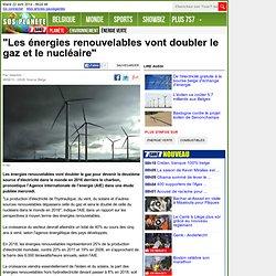 """""""Les énergies renouvelables vont doubler le gaz et le nucléaire"""""""