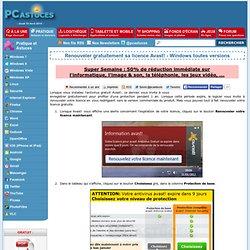 Renouveler gratuitement sa licence Avast! - Windows toutes versions