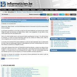 Editions ENI renouvelle le genre du livre numérique - Press Releases