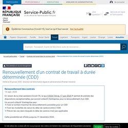 Renouvellement d'un contrat de travail à durée déterminée (CDD)
