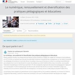 Le numérique, renouvellement et diversification des pratiques pédagogiques et éducatives