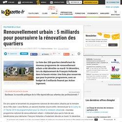 Renouvellement urbain : 5 milliards pour poursuivre la rénovation des quartiers