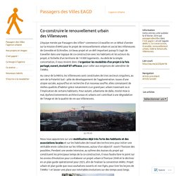 Co-construire le renouvellement urbain des Villeneuves