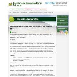 Recursos renovables y no renovables de nuestro país « Escritorio de Educación Rural