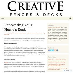 Renovating Your Home's Deck