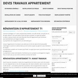 Renovation appartement pearltrees - Devis pour travaux appartement ...
