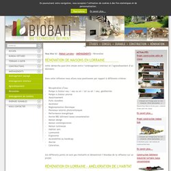 Renovation, éco construction Nancy, Lorraine - Biobati Lorraine