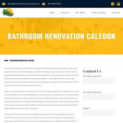 Bathroom Renovation Caledon - Cedar Hills Contracting