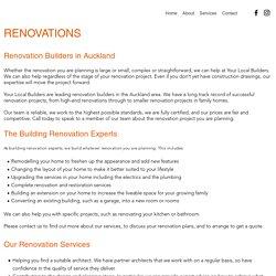 Renovation Builders Auckland