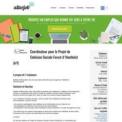 Habitat & Rénovation asbl - Coordinateur pour le Projet de Cohésion Sociale Forest d'Houthulst - Alterjob.be