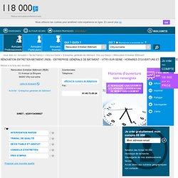 Rénovation Entretien Bâtiment (REB) - Entreprise générale de bâtiment - Vitry-sur-seine - Horaires d'ouverture et coordonnées avec le 118000.fr