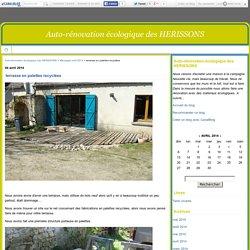terrasse en palettes recyclées - Auto-rénovation écologique des HERISSONS