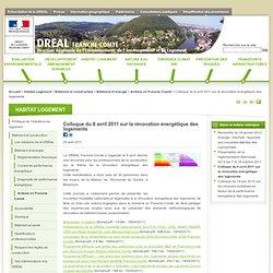 DREAL Franche-Comté - Colloque rénovation énergétique des logements