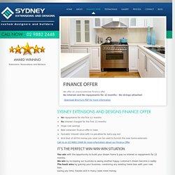 Finance Offer – Home Extension, Renovation, Improvement Sydney