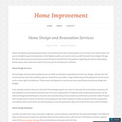 Home Design and Renovation Services – Home Improvement