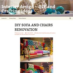 Interior design – DIY and Crafting ideas