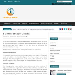 Home Design & Renovation Blog – 5 Methods of Carpet Cleaning
