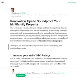 Renovation Tips to Soundproof Your Multifamily Property