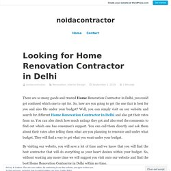 Looking for Home Renovation Contractor in Delhi – noidacontractor