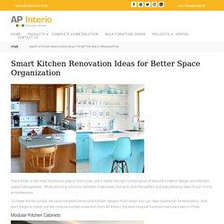 Smart Kitchen Renovation Ideas for Better Space Organization