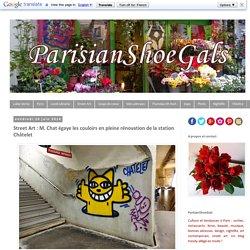 Street Art : M. Chat égaye les couloirs en pleine rénovation de la station Châtelet