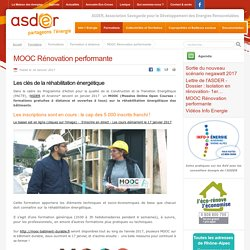 MOOC Rénovation performante - ASDER