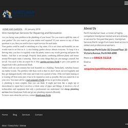Hire Handyman Services for Repairing and Renovation - perthhandymanwa
