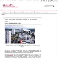 Quels effets de la rénovation urbaine sur les quartiers ciblés ?