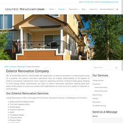 Exterior Home Renovation, Remodeling Company Dallas, TX