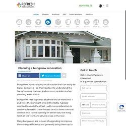 Planning a bungalow renovation