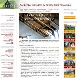 Aides travaux rénovation : prime énergie, CEE, RGE, ANAH, CITE, subvention de 1350 euros, ... Décryptage !