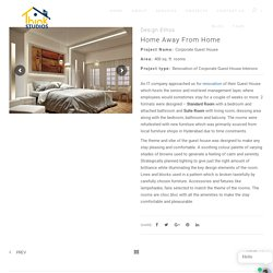 Renovation Of Corporate Guest House Interiors -Thinkstudios