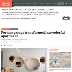 Apartment renovation transforms garage into colorful home